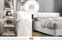 THE IDEAL BLEND / Great decor can freshen up your room without taking up lots of floor space. Embracing different decor styles create something wonderful for your apartment or condo. Included are some beautiful Inspirations that blend Decor Styles gorgeously with DHP furniture's modern designs for small space living.