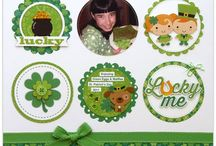 St. Patrick's Day Ideas / Scrapbook pages, cards, home decor, party decorations, gifts, and craft ideas for St. Patrick's Day.  / by Juliana Michaels