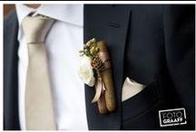 DIY corsages & boutonniers / Zelf corsages maken! Willen jullie een originele corsage voor jullie bruiloft dan vind je hier een aantal leuke ideeën. / by Wedspiration - leuke ideeen voor je bruiloft