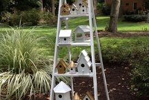 bird houses and garden decorations / ideas for garden and backyard decor...for your view, parties, kids.... / by Shanee Uberman-painter-artist-designer
