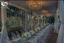 Kim & Kanye Wedding Florence, Italy / With a passion for over the top lighting designs and events, we couldn't help but predict what the wedding of Kanye West and Kim Kardashian would be like. We're thinking clusters of chandeliers and white & gold decor!