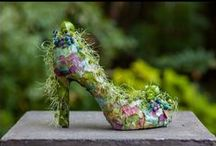 Botanical Couture - shoes / selection of botanical shoes that I have made