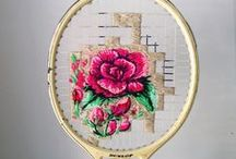 Embroidery - Unusual Mediums / Embroidering in non-fabric or unusual places