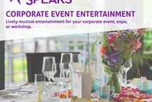 Corporate Event Entertainment / Lively musical entertainment for your corporate event, expo, or workshop. Learn more at http://www.chicago-bands.com/events/ #maggiespeaks #corporateevent #entertainment