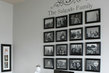Pretty Picture Walls / Ideas on how to best display photos and pictures on a wall.