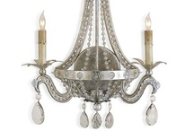 Vintage Glam Collection / Silver and gold furniture pieces, with mirrored chests and chandeliers. Hollywood glamour for the home!