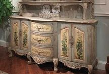 French Painted Sideboards