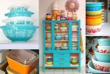Pyrex Pretties & More / The Pinterest Page to find Vintage Kitchen Dishware & More such as Pyrex (by Corningware), FireKing (by Anchor Hocking), Hazel Atlas, Glasbake, Bartlett-Collins and more!  / by Michelle Cataldo