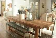 Rustic French Country / Washed and weathered wood brings a rustic flair to French Country favorites.