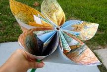 Map Crafts Ideas / Taking the simplest of items and making wonderful things from them. Crafts and ideas of how to use maps - For more ideas sign up for my Newsletter at MoreStyleThanCash.com