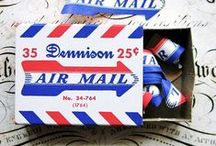 Projects - Air Mail Crafts / Using Air Mail letter graphics for crafts.