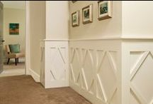 House Upgrades - Wainscoting / Wainscoting ideas for the home to turn a simple room into something fabulous- More Style Than Cash.com