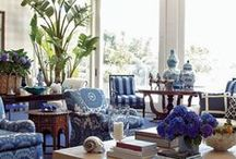Decorating With - Blue and White Decorating / Two simple colors can make a room look fabulous. I share my love of Blue and White design. MoreStyleThanCash.com