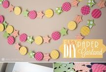Banners and Buntings and Garland / so many cute and smart ideas
