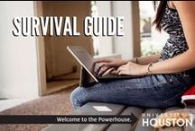 SURVIVAL GUIDE / College is already hard, we'd like to make it easy and share some tips that can help you along the way. If you'd like to share your own tips with us, use the hashtag  #UHSurvivalGuide / by University of Houston