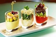Food In Glasses / You don't need a lot of different dishes and glasses to have an amazing food presentation. Here are ideas using regular glassware that make the food look fabulous. MoreStyleThanCash.com