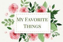 My Favorite Things / Rhinestones & Sweatpants   My Favorite Things