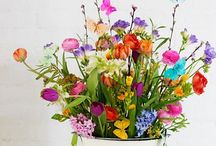 Flowers,  flowers, flowers / I absolutely love flowers of every type and colour, but sweet peas, violets, bluebells, and roses are favourites.