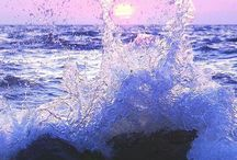 Waves and water, wild or tranquil / Ocean waves, lakes, water sounds - all bring rest to my soul.