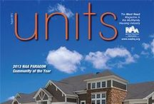 UNITS Magazine / units Magazine is a full-color trade publication featuring news and newsmakers in the multifamily housing industry. The National Apartment Association publishes this magazine monthly.