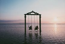 Hammocks and swings / I loved to swing as a child, and swings and hammocks still attract and relax me, and make me dream of happy things.