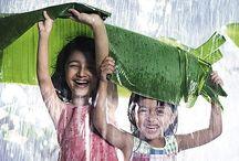 Raindrops keep falling….. / I love rain and rainy days. I love walking and swimming in summer rain. I love the smell of rain.