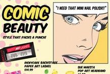 TRENDING: #ComicBeauty / #ComicBeauty from #RickysNYC is style that packs a punch! Conquer the world with one BAM-POW-ZAP at a time at http://www.rickysnyc.com/now-trending/bam-pow-zap.html