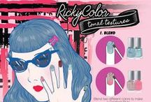 Ricky's NYC: Tonal Textures / Combine multiple RickyColor Nail Polishes to create a unique tonal textured look! Shop our collection of nail polishes from Ricky's NYC at http://www.rickysnyc.com/nails/rickycolor.html / by Ricky's NYC