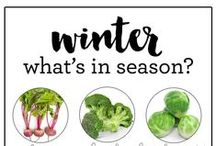 winter seaonal + healthy recipes / healthy in-season recipes featuring winter fruits and vegetables