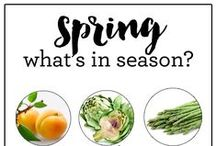 spring seasonal + healthy recipes / healthy in-season recipes featuring spring fruits and vegetables