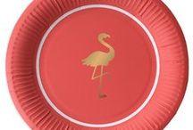 Preppy Flamingo Party Supplies / Preppy Flamingo Party Supplies