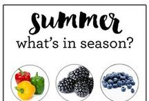 summer seasonal + healthy recipes / healthy in-season recipes featuring summer fruits and vegetables
