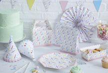 Ice Cream/Sprinkles Party Supplies / Ice cream/Sprinkles Party Supplies