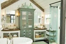bathrooms / Variety of bathroom styles.