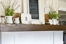 MANTLE IDEAS / Decorating ideas for your mantle, including seasonal and holiday.