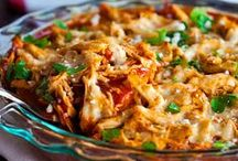 Casseroles / Whether it's green bean, tuna or sweet potato or whatever, casseroles are easy to make and you probably have many of the ingredients - potatoes, cheese, tomatoes, pasta, soup - already in your pantry!  Casseroles are the perfect simple meal, whether it's just the two of you, a family gathering or a potluck.