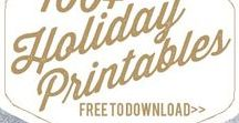 Free Holiday Printables / Easy and free holiday printables, a simple DIY-->print it yourself and use in your life and home.
