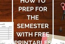 Free College Printables / Free Printables for the College Student to get organized.