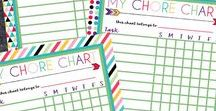 Free Printable Chore Charts / Free printable chore charts for kids of all ages! Find the perfect chore chart for your family.