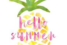 Free Summer Printables / Free printables for all things summer: home decor, invitations, activities for kids, party ideas and more!