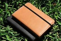 Grovemade Leather Notebooks / The Grovemade Notebook cover is made in Portland, Oregon from premium vegetable-tanned leather. Compatible with Moleskine brand notebooks and completely refillable, the cover is built to last from book to book. / by Grovemade