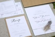 j u s t  m y  t y p e / Gorgeous wedding stationary & typography / by Just My Type