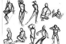 Art Lesson Ideas: Gesture / by Michelle McGrath