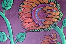 Art Lesson Ideas: Flowers / by Michelle McGrath