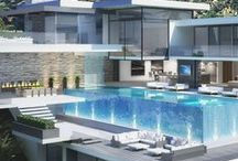 villa / swimming pool