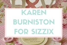 KAREN BURNISTON FOR SIZZIX / Karen Burniston is a well-known designer and papercrafter who focuses primarily on designing pop-up and interactive techniques. She has been published in all the major papercraft magazines and has contributed to numerous idea books. She teaches pop-up classes at stores and events throughout the world. Her family consists of John, a fellow engineer, twin children, Karl and Emma, and one dog who thinks she's a cat, Lucy. Learn more about Karen and find links to video tutorials for her Sizzix pop-up dies on her blog: I am not left-handed. / by Sizzix