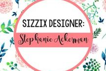 STEPHANIE BARNARD FOR SIZZIX / You've got a style of your own. And so does Stephanie Barnard. Check out her die and embossing folder designs shown below. Just imagine the kinds of things you could create with these designs. Then wonder how you lived without them this long. / by Sizzix