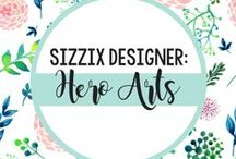 HERO ARTS FOR SIZZIX / Dedicated to the art of stamping, Hero Arts is an innovator in the cardmaking and scrapbooking industries with leading designs and award-winning green business practices. Start to finish, Hero Arts products are made with love and precision as every product continues to share the simple elegance and passion for quality. / by Sizzix