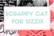 SCRAPPY CAT FOR SIZZIX / You've got a style of your own. And so does Scrappy Cat. Check out all their latest and greatest die, embossing folder and cartridge designs shown below. Just imagine the kinds of things you could create with these designs. Then wonder how you lived without them this long. / by Sizzix