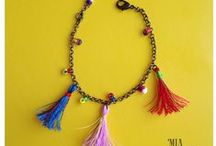 Handmade by me / Mia Suilemi is specialized in the realization of artistic accessories combining stones and silk.  Each piece is handmade.     www.facebook.com/MiaSuilemi
